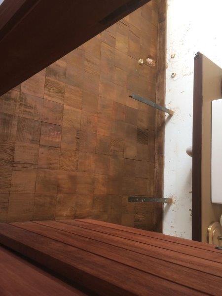 Instalação taco de madeira